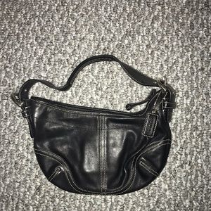 Authentic Coach Black Leather Purse